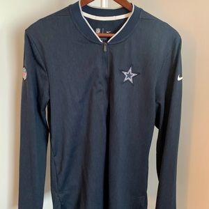 Dallas Cowboys Nike Sideline Half-Zip Pullover